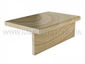 Купить Кварцито-песчаник (блок) - Кварцито-песчаник «Ступень прямоугольная»