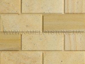 Купить Кварцито-песчаник (блок) - Кварцито-песчаник «Плита шлифованная фасадная» (фаска 90°)