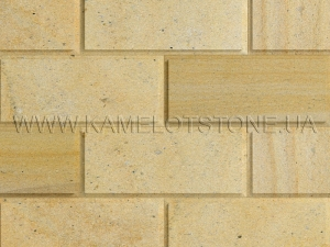 Купить Кварцито-піщаник (блок) - Кварцито-песчаник «Плита шлифованная фасадная» (фаска 90°)