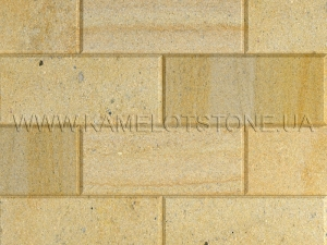 Купить Кварцито-піщаник (блок) - Кварцито-песчаник «Плита шлифованная фасадная» (фаска 45°)