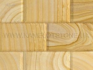 Купить Quartzite-sandstone - Кварцито-песчаник «Плитка шлифованная цокольная» (скала)