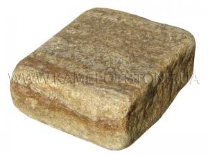 Купить  Песчаник «Брусчатка Желтая» колотая и галтованная