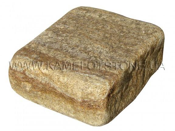 Песчаник (плашка) - Песчаник «Брусчатка Желтая» колотая и галтованная Цена