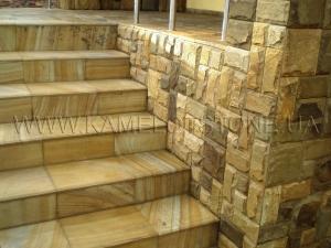 Купить Quartzite-sandstone - Кварцито-песчаник «Ступень прямоугольная»