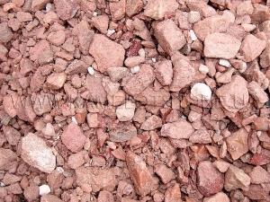 Купить Ландшафтный камень - Крошка «Кварцит» малиновый