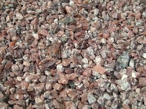 Купить Ландшафтный камень - Крошка «Кварцит» малиновый мелкая