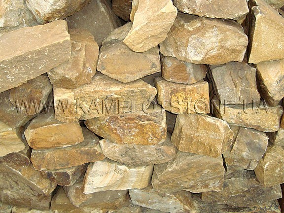 Ландшафтный камень - Песчаник «Скальный» желтый Цена