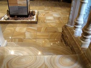 Фасады (фасадные системы) из натурального камня Kings'Stone. - Якщо Ви хочете зробити свій інтер'єр особливим, рекомендуємо вимостити підлогу природним каменем кварцито-пісковиком. Яскравий малюнок і міцна поверхня создатут ідеальний підлогу у вашому будинку