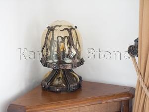 Фасады (фасадные системы) из натурального камня Kings'Stone. - Художественная ковка в интерьере. Настольная лампа.